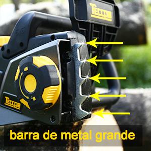TECCPO Motosierra Eléctrica 2400W, Espada de 40 cm, Velocidad 15m/s, Auto-Lubrificación, Cambio de Espada sin Herramienta, Doble Interruptor de ...