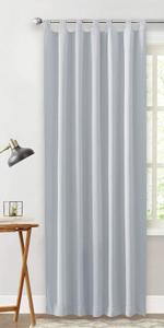 ... cortinas largas modernas de salon blancas grises con trabillas salon dormitorio oficina habitacion ...