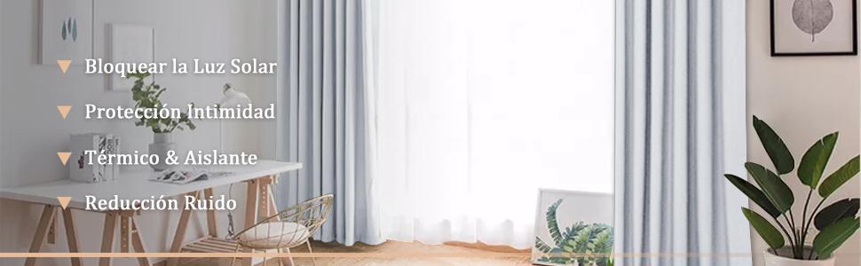 cortinas largas blancas gris decoracion casa ventana salon dormitorio moderno habitaion infantil