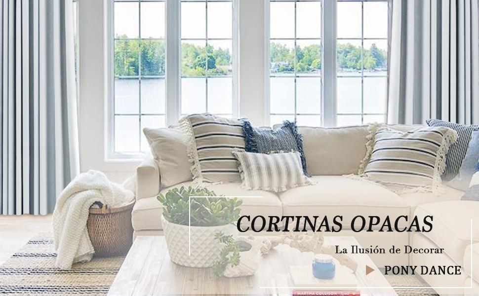 cortinas largas modernas blancas grises de salon dormitorio cortina termica aislante frio calor