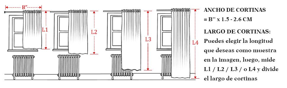 como medir elegir las cortinas decoracion interiores hogar ventana salon dormitorio habitacion sala