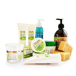 fuerte ALOE Aloe Vera Gel 100% Organico puro - 250 ml / 8.45 fl oz