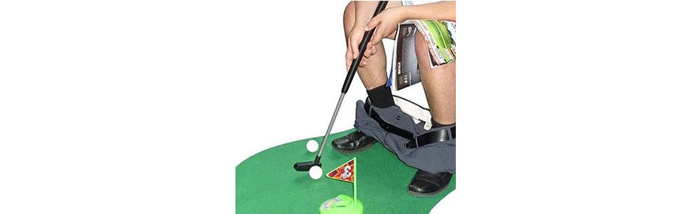 Amasawa Mini-Golf para baño,1 Juego de 6 Piezas,para Inodoro ...