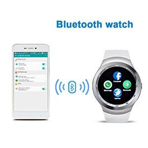 Smartwatch Y1 en inglés, Bluetooth y cámara, TF / SIM, monitor de sueño / podómetro / alarma / recordatorio sedentario / pantalla táctil compatible ...