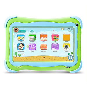 YUNTAB Q91 Tablet Infantil de 7 Pulgadas (Android 5.1, Quad-Core,Allwinner A33, WiFi, Bluetooth, HD 1024x600, 1+16GB , Tarjeta TF 32 GB, Doble Cámara, ...