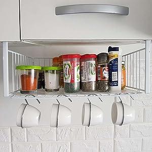 Almacenamiento de cocina debajo del estante de almacenamiento del gabinete: