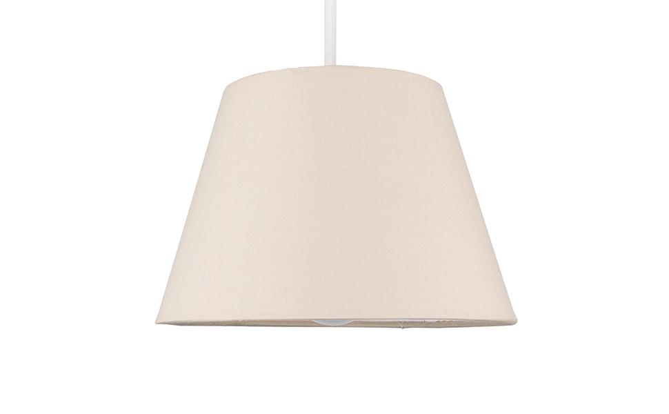 MiniSun - Moderna pantalla para lámpara de techo o mesa - de forma cónica, 20cm, beige