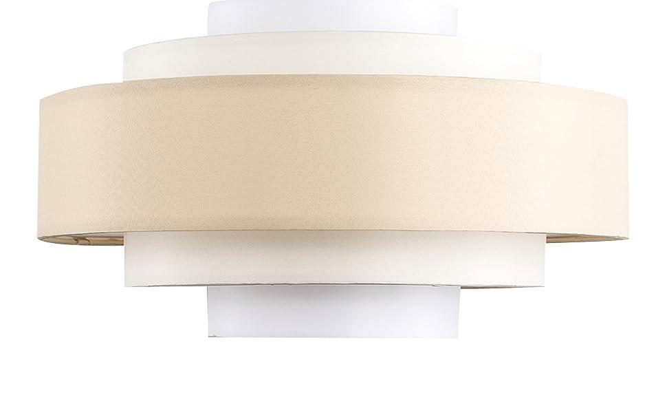 MiniSun - Pantalla para lámpara de techo moderna Hampshire - Con 5 niveles y tonos crema