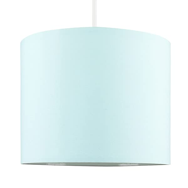 MiniSun – Moderna pantalla de color azul claro, tamaño pequeño y forma cilíndrica – para lámpara de techo o lámpara de mesa