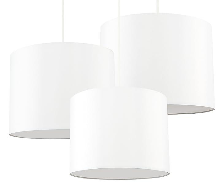 MiniSun - Set de 3 pantallas para lámparas de techo colgante ...