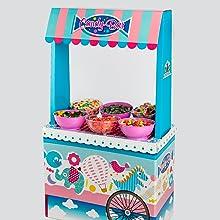Candybar, carrito caramelos, celebraciones, caramelos