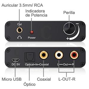 Se Puede Conectar a los Dispositivos Externos como un Amplificador a Través de Jack Estándar de RCA/ Jack 3.5mm de Auriculares.