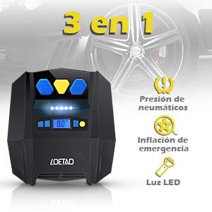 LOETAD Compresor de Aire Digital Inflador Eléctrico Portátil ...