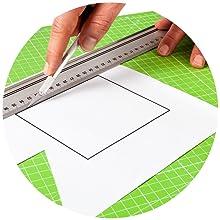 Alfombrilla de corte autorregenerable A3 en verde, rosa y azul. Perfecta para coser, manualidades y patchwork. Impresa por ambos lados 45 x 30 indicación en cm y pulgadas: Amazon.es: Hogar