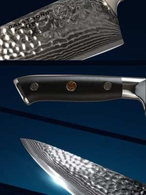 Dalstrong Cuchillo del chef-Shogun serie X Gyuto - japonés AUS-10V - vacío tratado-martillado acabado - 8