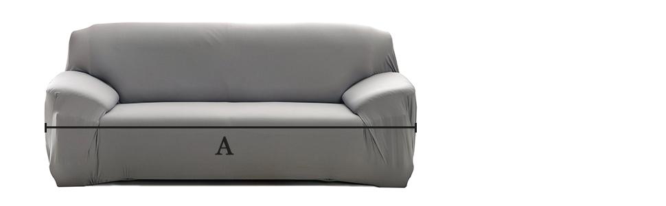 Cornasee Funda de sofá Elastica 3 plazas,Cubierta para sofá con Cuerda de fijación,Gris