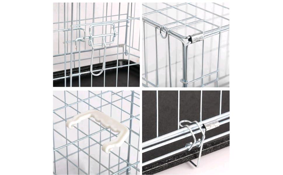 EUGAD-Nuestra jaula de transporte plegable proporciona un lugar agradable y cómodo para su perro
