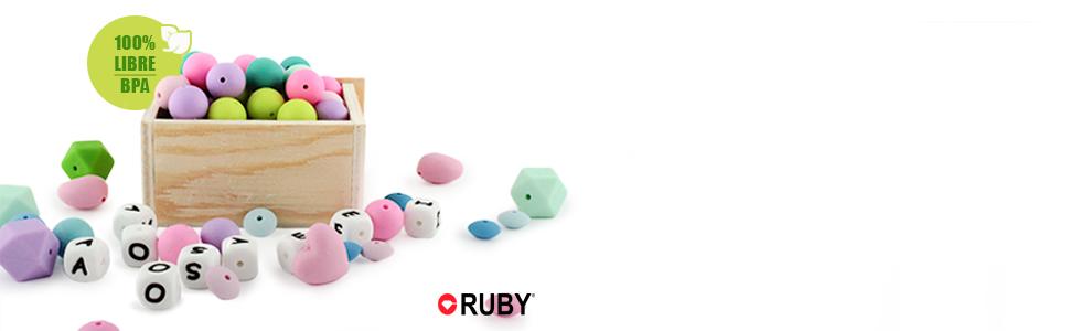 RUBY - Cadena chupete silicona, chupetero para bebé con bola y pinza de estrella con cara feliz de silicona libre de BPA y antibacteria. Envío desde ...