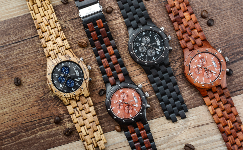 Reloj de madera BEWELL