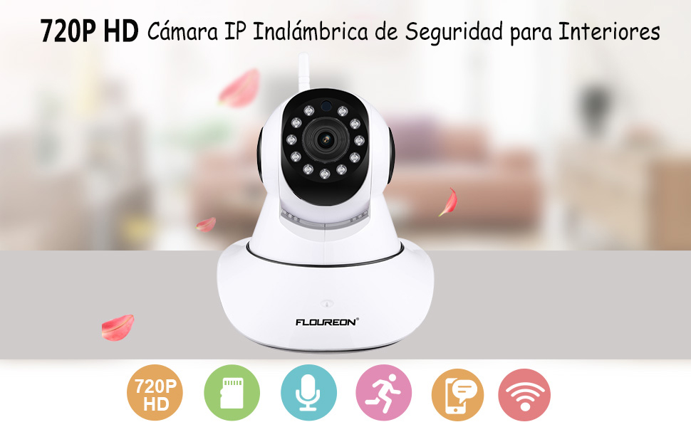 FLOUREON IP Cámara Indoor 720P HD WIFI con Audio Bidireccional