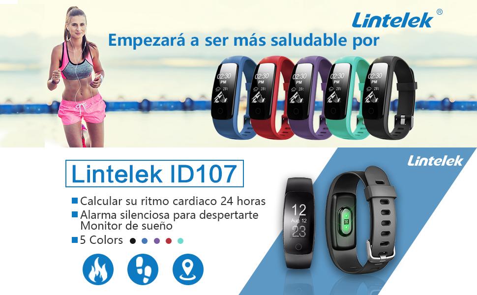 Lintelek Pulsera Inteligente, Monitor de Ritmo cardíaco, sueño ...
