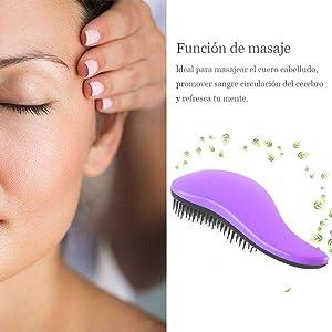 Suaviza la cutícula del cabello, aportándole un aspecto brillante y sano; Este cepillo ...
