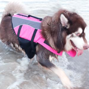 Chaleco salvavidas para perros Songway tama/ño ajustable salvavidas y caza para perros con asa flotador para mascotas