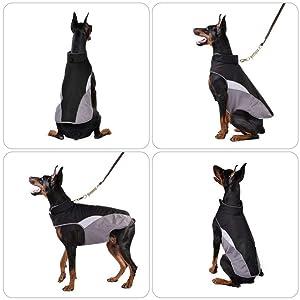 Se adapta a cualquier tamaño de perro - tamaños disponibles: XS - XXXL. Asegúrese de medir a su mascota desde la base del cuello hasta la base de la cola.