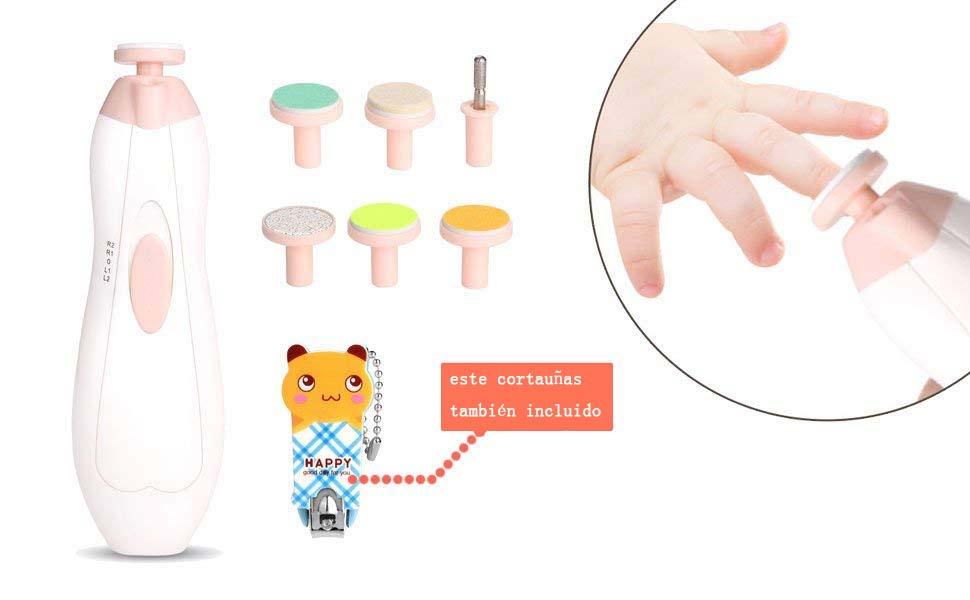 Lima de Uñas Bebe, WADEO Electrica Lima de Uñas Bebe dedo, kit de ...