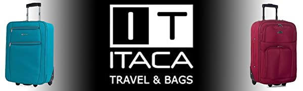 Maleta de viaje cabina trolley marca Itaca equipaje de mano poliester EVA ultra ligero