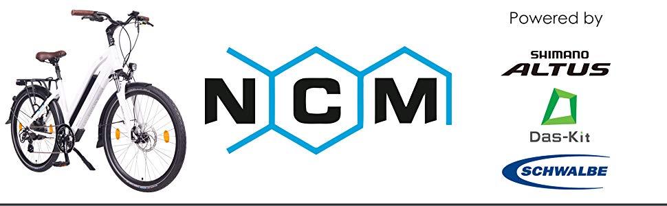 NCM Milano Bicicleta eléctrica de Trekking, 250W, Batería