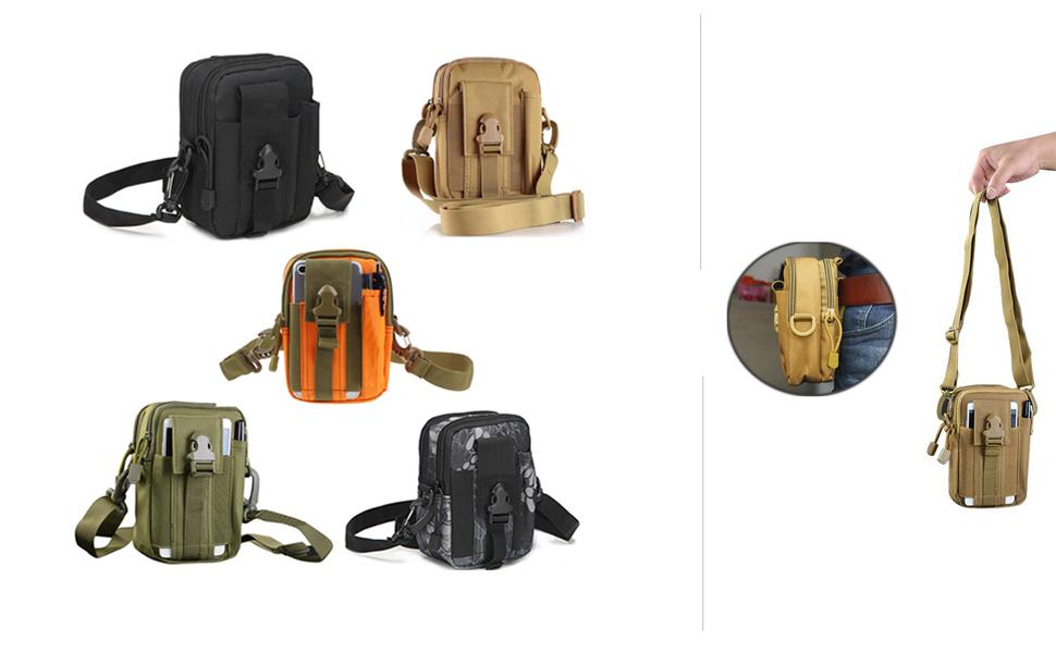 Selighting Bolsa Compacta MOLLE EDC de T/áctico Multiuso Bolsa Tactica Cintura Ri/ñoneras para Herramientas Peque/ñas Bolsa Militar para Tel/éfono M/óvil al Aire Libre Deportes
