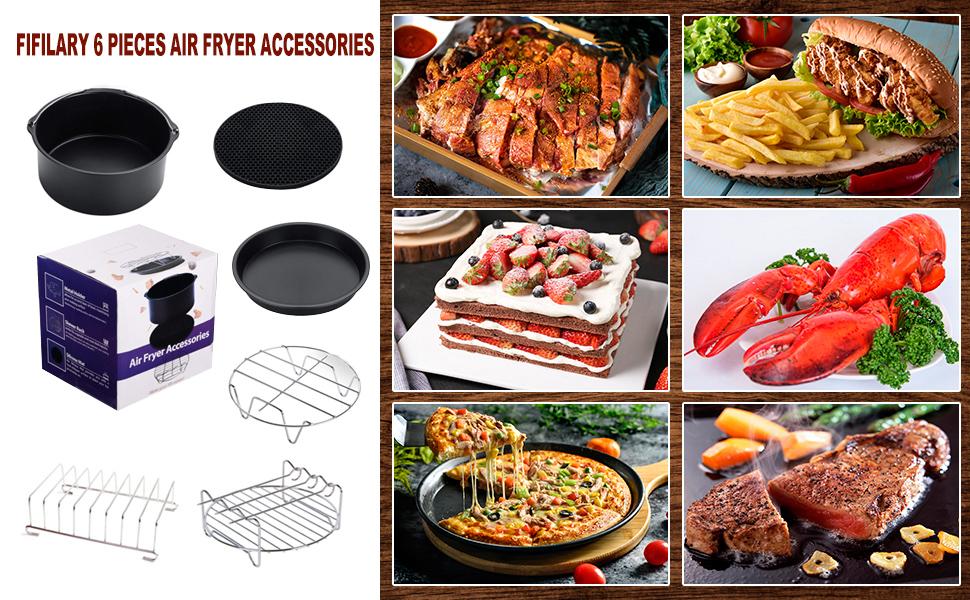 Los accesorios FIFILARY para la freidora son una buena ayuda en su cocina. Son cómodos de usar y ahorran tiempo. Puedes cocinar muchos platos deliciosos ...