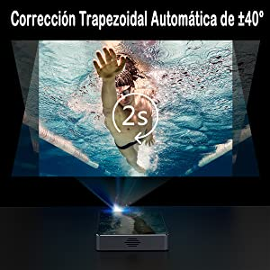 Proyector Android 7.1 DLP Proyector ExquizOn P8I Video 1080P Full ...