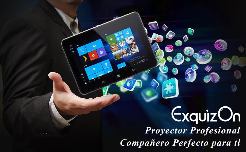ExquizOn Smart 3 - 300 ANSI Lúmenes Proyector Inteligente Portátil ...