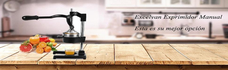 Compra Excelvan Exprimidor de Zumo Profesional Manual, Extracto ...