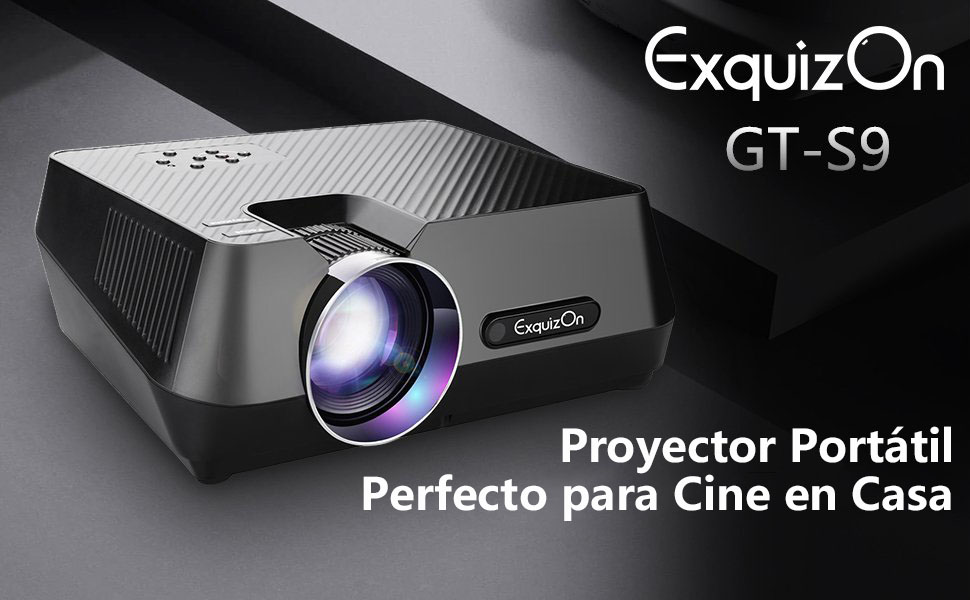 ExquizOn Mini Proyector Portátil GT-S9 Full HD 1080P Proyector LED ...