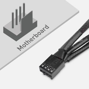 4 Pin PWM 3 Computer Case Fan Splitter Cable