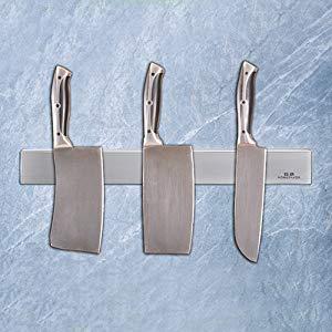 Ga HOMEFAVOR Soporte Magnético Cuchillos, Portacuchillos Magnético de Acero Inoxidable 40 cm Barra de Cuchillo