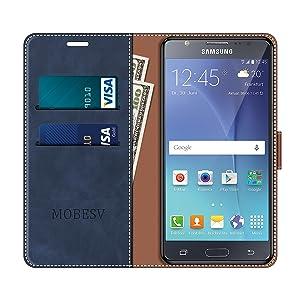 MOBESV Funda para Samsung Galaxy J5 2015, Funda Libro Samsung J5 2015, Funda Móvil Samsung Galaxy J5 2015 Magnético Carcasa para Samsung Galaxy J5 2015 Funda con Tapa, Elegante Azul: Amazon.es: Electrónica