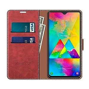 MOBESV Funda para Samsung Galaxy M20, Funda Libro Samsung M20 ...