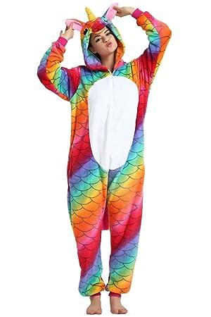 Missley Flanela Novedad Unicornio Cosplay Pijamas Animal Disfraz Hallowe