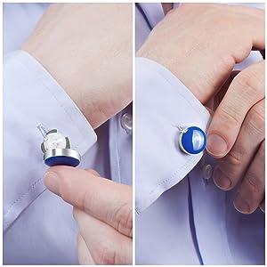 Button Cuff Hombre N/A: Amazon.es: Ropa y accesorios