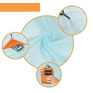 ZOMAKE Manta portátil Impermeable para Picnic,Portátil Compacto Plegable Playa Manta para Camping, Playa, Picnics, Senderismo 190 x 190cm/210 x 210cm