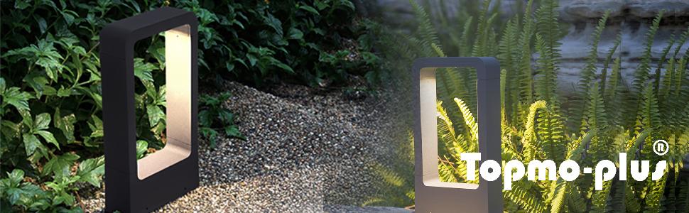 Topmo-plus Poste apliques de jardín/Poste para jardin LED Lámpara de jardin exterior / 7W bridgelux LED COB está fija 770 lm IP65 / aluminio fundido antracita 30cm blanco natural 4000K 30CM: Amazon.es: