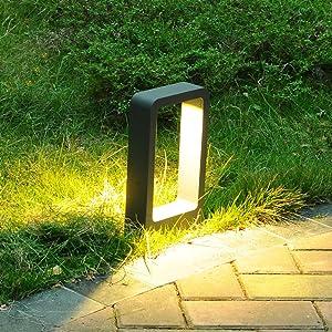 Topmo-plus Poste de jardin Poste de Camino/Lámpara Poste para jardin / 7W bridgelux LED COB está fija 770lm IP65 / aluminio apliques de pista Poste fundido antracita 30cm blanco cálido: Amazon.es: Iluminación