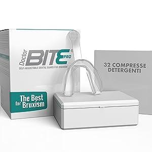 Doctor Bite Pro - Férula dental automoldeable para combatir el Bruxismo (Transparente)