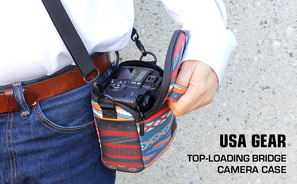 Funda Estuche Bolsa Protectora de Neopreno por USA Gear para Cámara de Fotos Compacta, Bridge, Hibrida y Evil Mirrorless, Compatible con Sony, Canon, ...