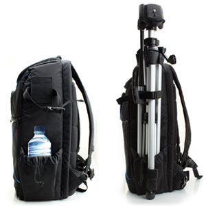 Mochila Cámara de Fotos Reflex DSLR USA Gear, Funda Resistente al Agua. Compartimento para Portátil y divisores para Meter un Drone,Tripode, ...