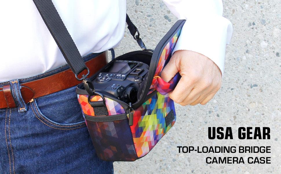 USA Gear Micro 4: 3 Bolsa de Cámara Puente con Funda para Lluvia ...
